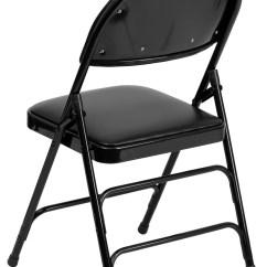 Folding Chair Vinyl Padded Black Slipcover For Armless Slipper Hercules Series Ultra Premium Metal