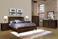 Harbor Springs Rustic Hardwood Sleigh Bedroom Set from ...