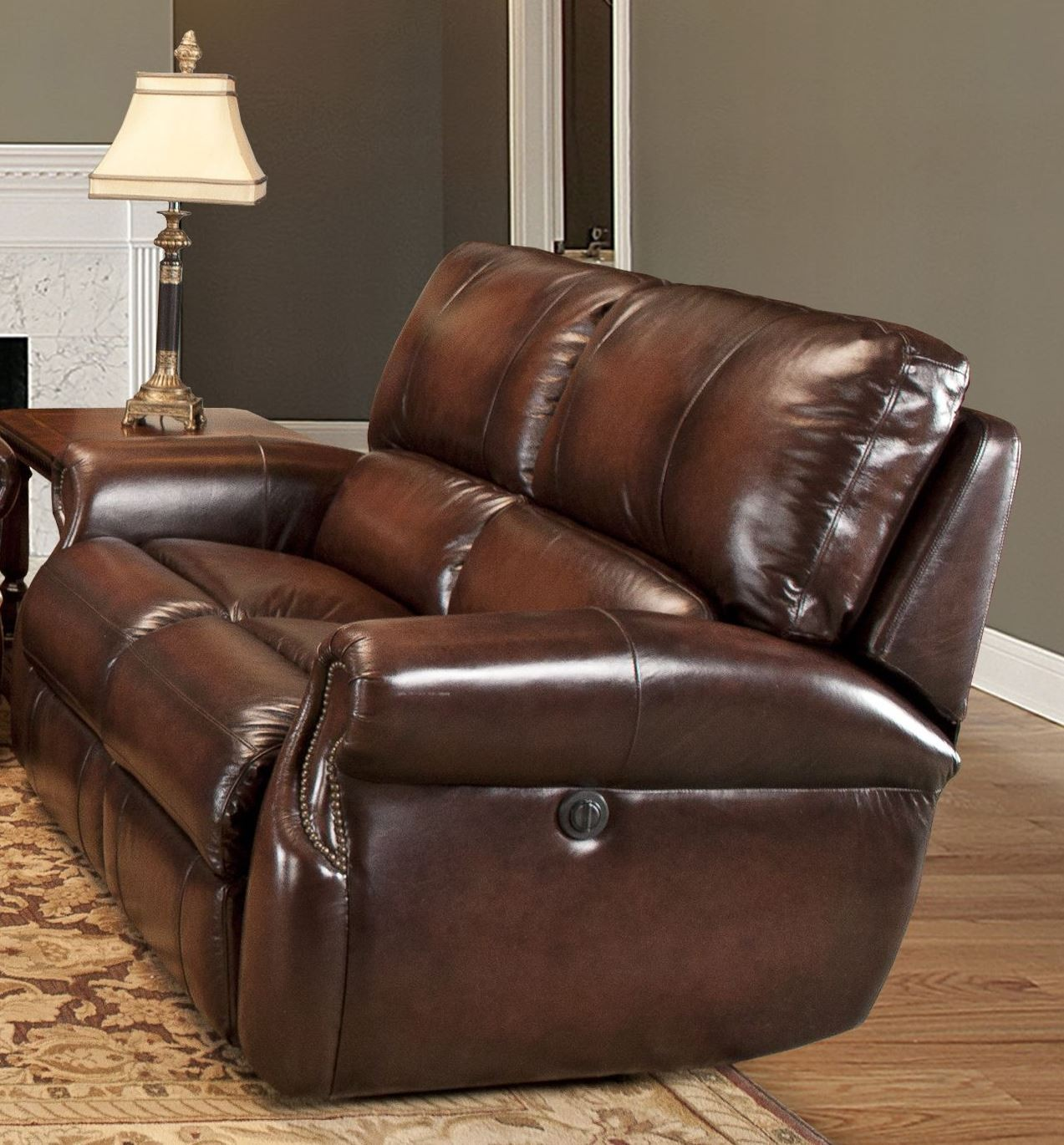 parker 2 piece sofa and loveseat in brown fundas para sofas a medida en chile hawthorne wipe dual power reclining from