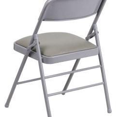 Hercules Folding Chair And Ottoman Sets Target Series Triple Braced Gray Vinyl Metal