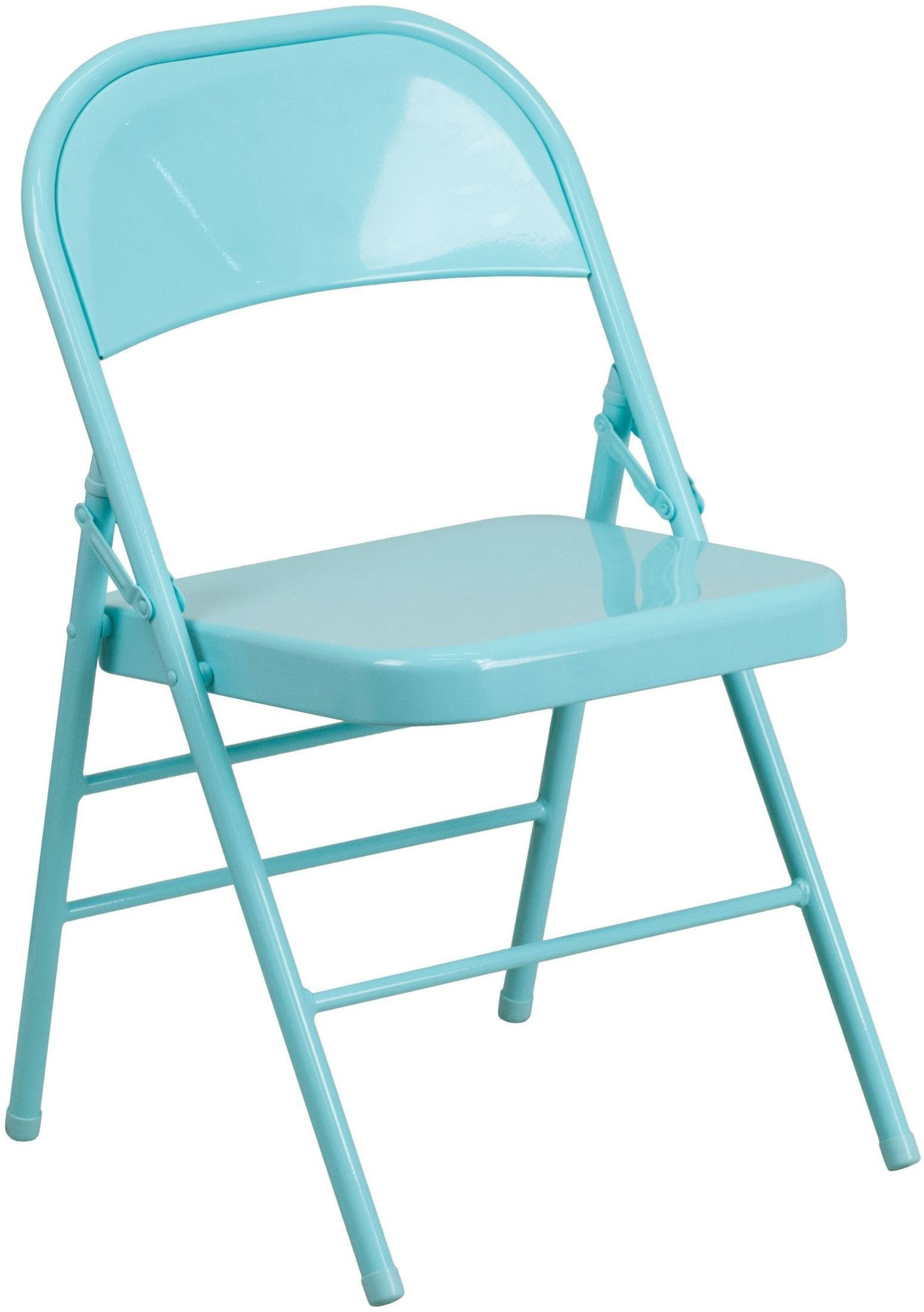 hercules folding chair brown wooden chairs colorburst series tantalizing teal triple braced