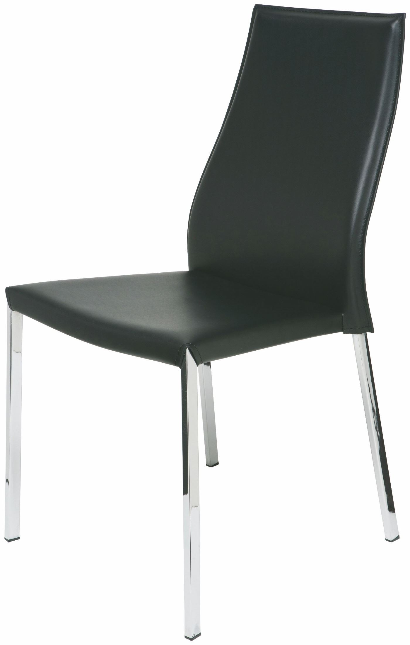 Black Leather Dining Chairs Eric Black Leather Dining Chair From Nuevo Coleman Furniture