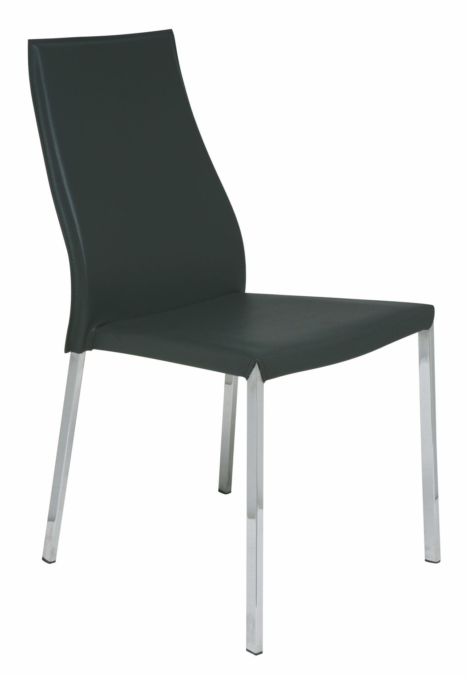Dark Grey Dining Chairs Eric Dark Grey Leather Dining Chair From Nuevo Coleman