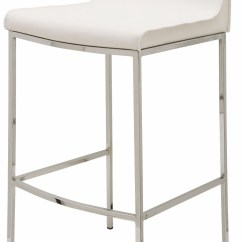 White Leather Bar Chair Design Within Reach Rocking Colter Stool From Nuevo Coleman Furniture