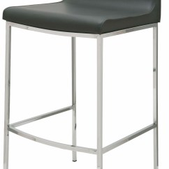 Bar Stool Chair Grey Patio Webbing Material Colter Dark Leather Counter From Nuevo