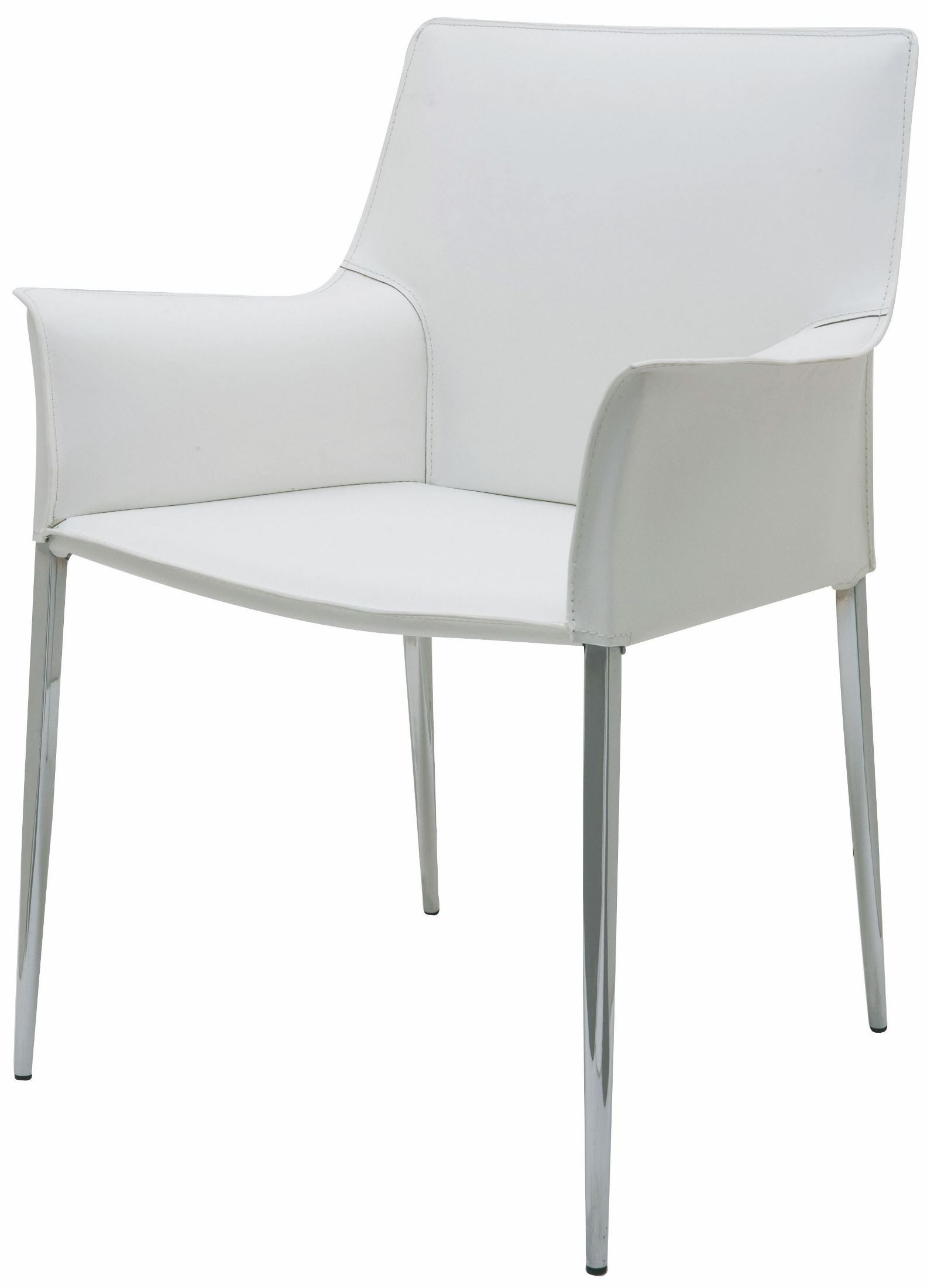 White Leather Chairs Colter White Leather Dining Arm Chair Hgar399 Nuevo