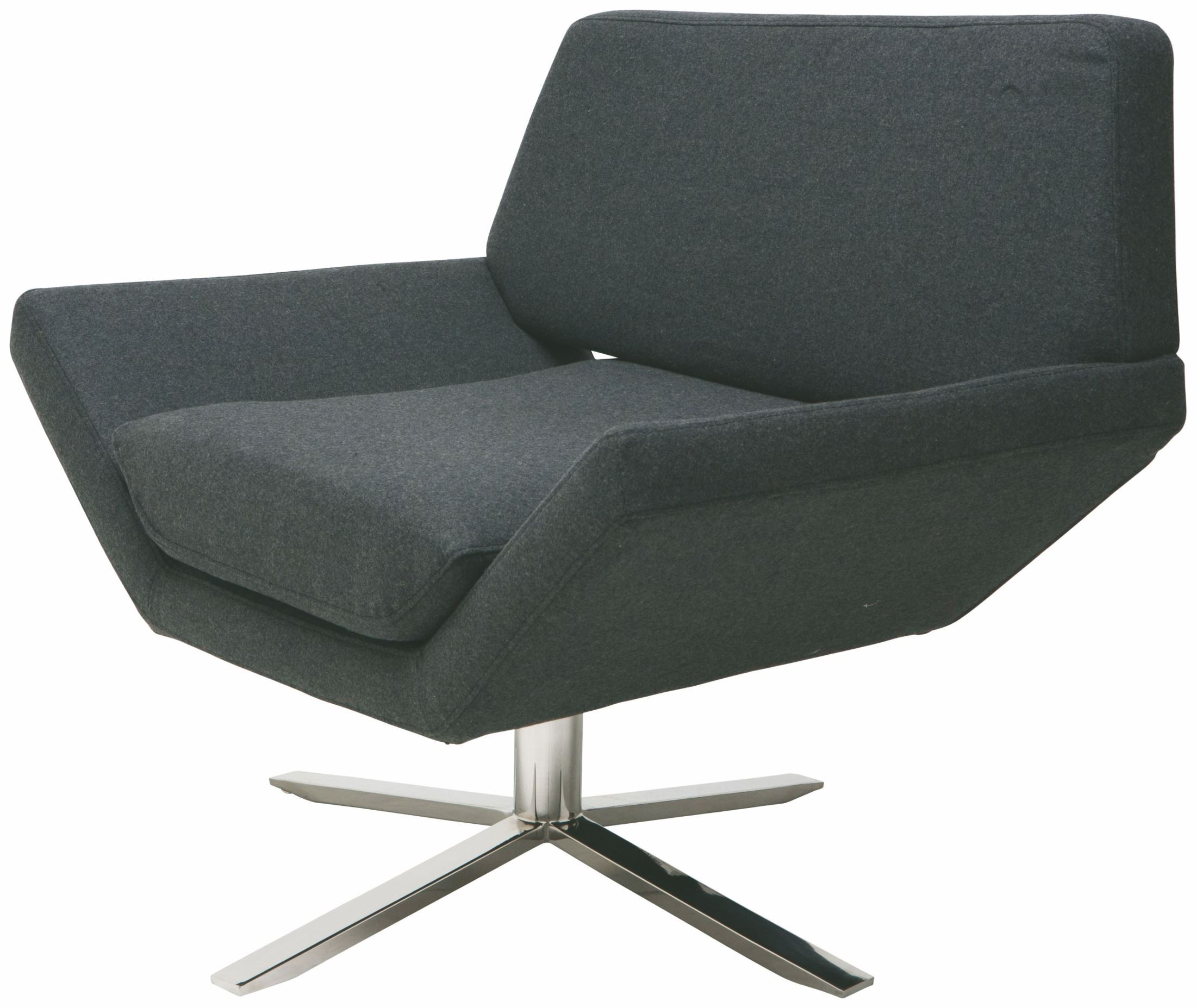 grey fabric swivel office chair white adirondack chairs sly dark lounger from nuevo coleman