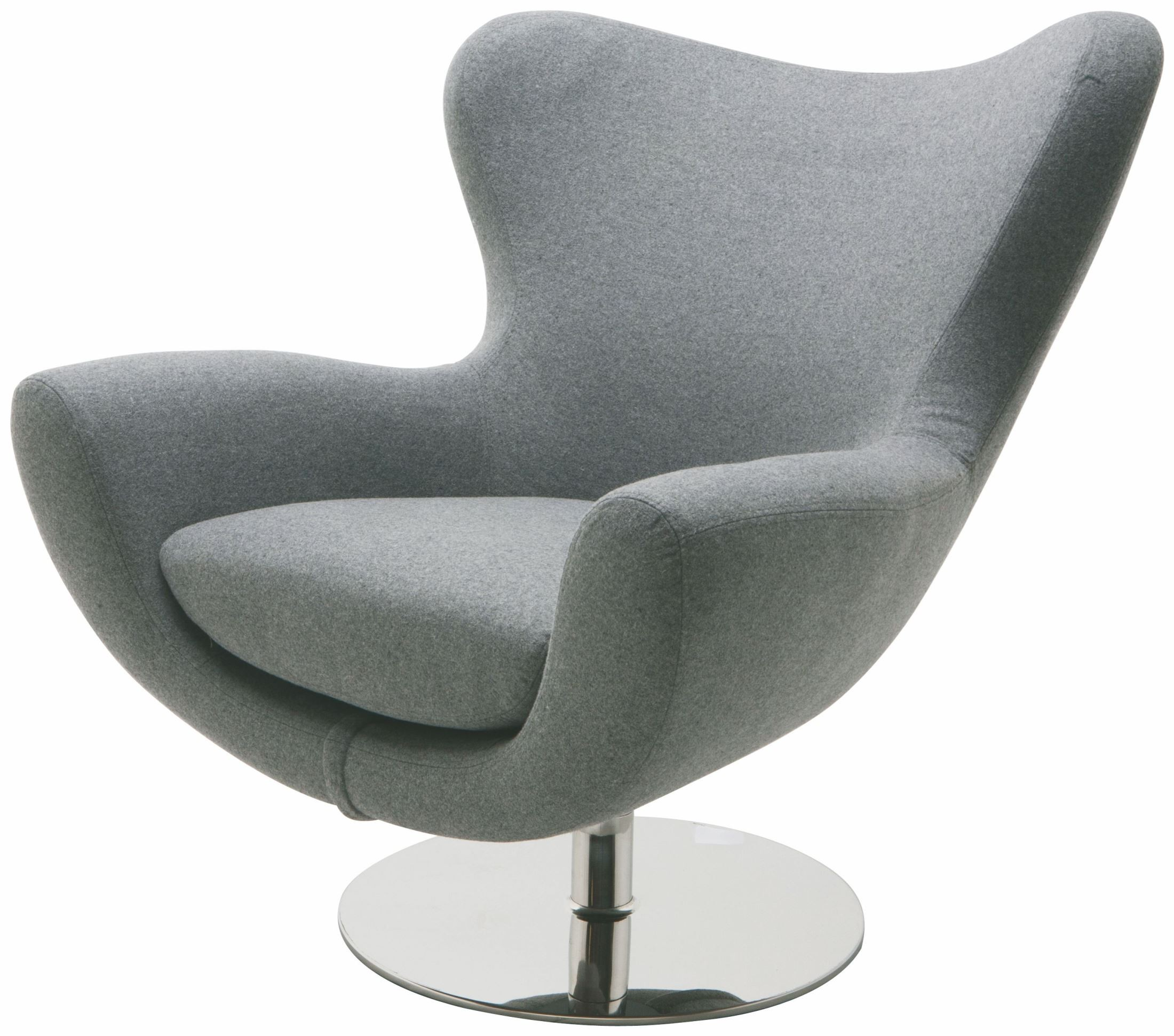 Round Comfy Chair Conner Light Grey Fabric Lounger Chair From Nuevo