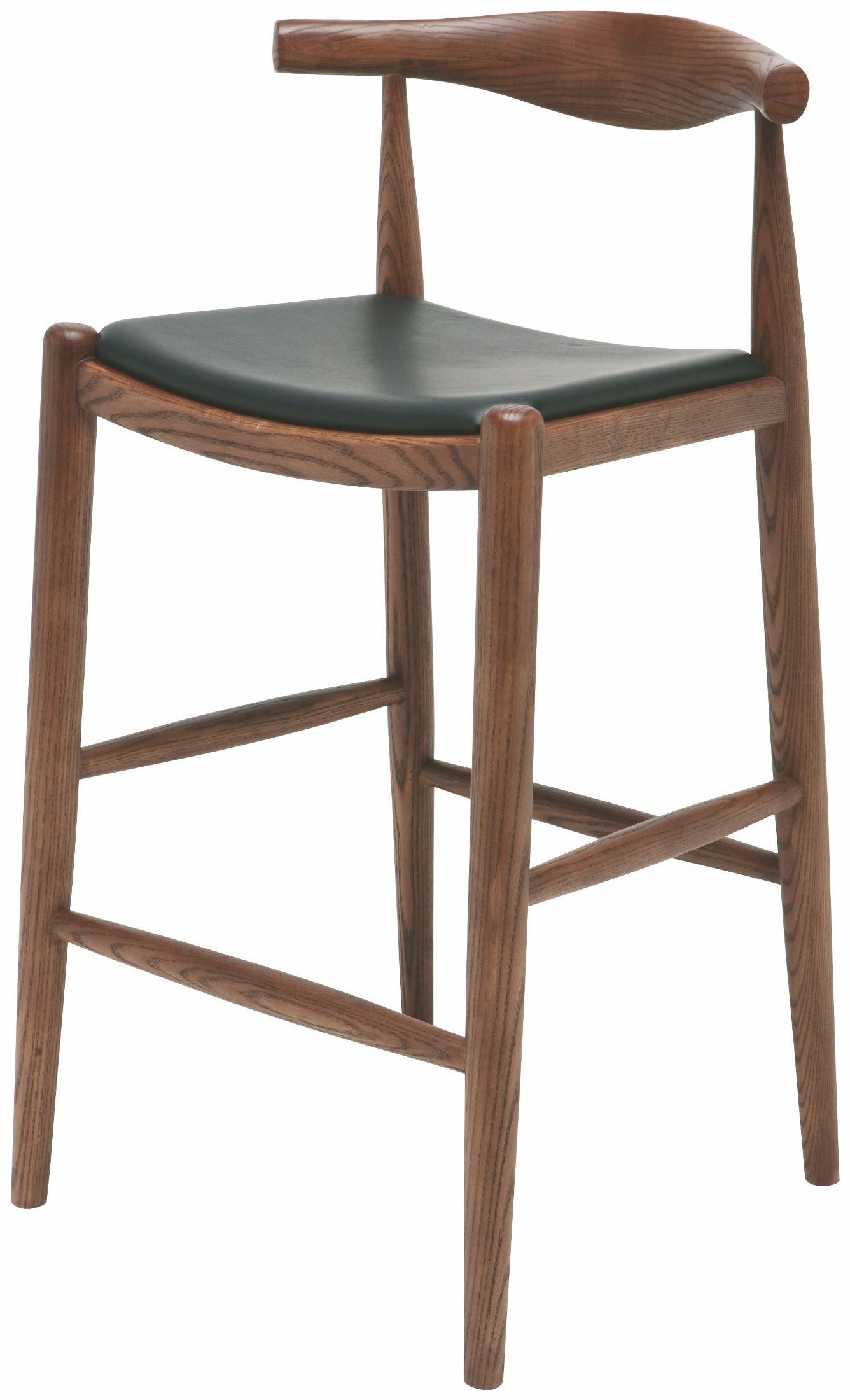 Maja Walnut Leather Counter Stool From Nuevo Coleman