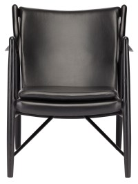 Chase Black Leather Occasional Chair, HGEM632, Nuevo