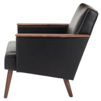 Jasper Black Leather Occasional Chair, HGEM636, Nuevo