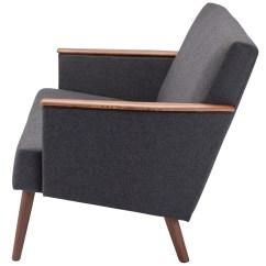 Gray Fabric Sofa Chair Bed With Trundle Jasper Grey Hgem639 Nuevo