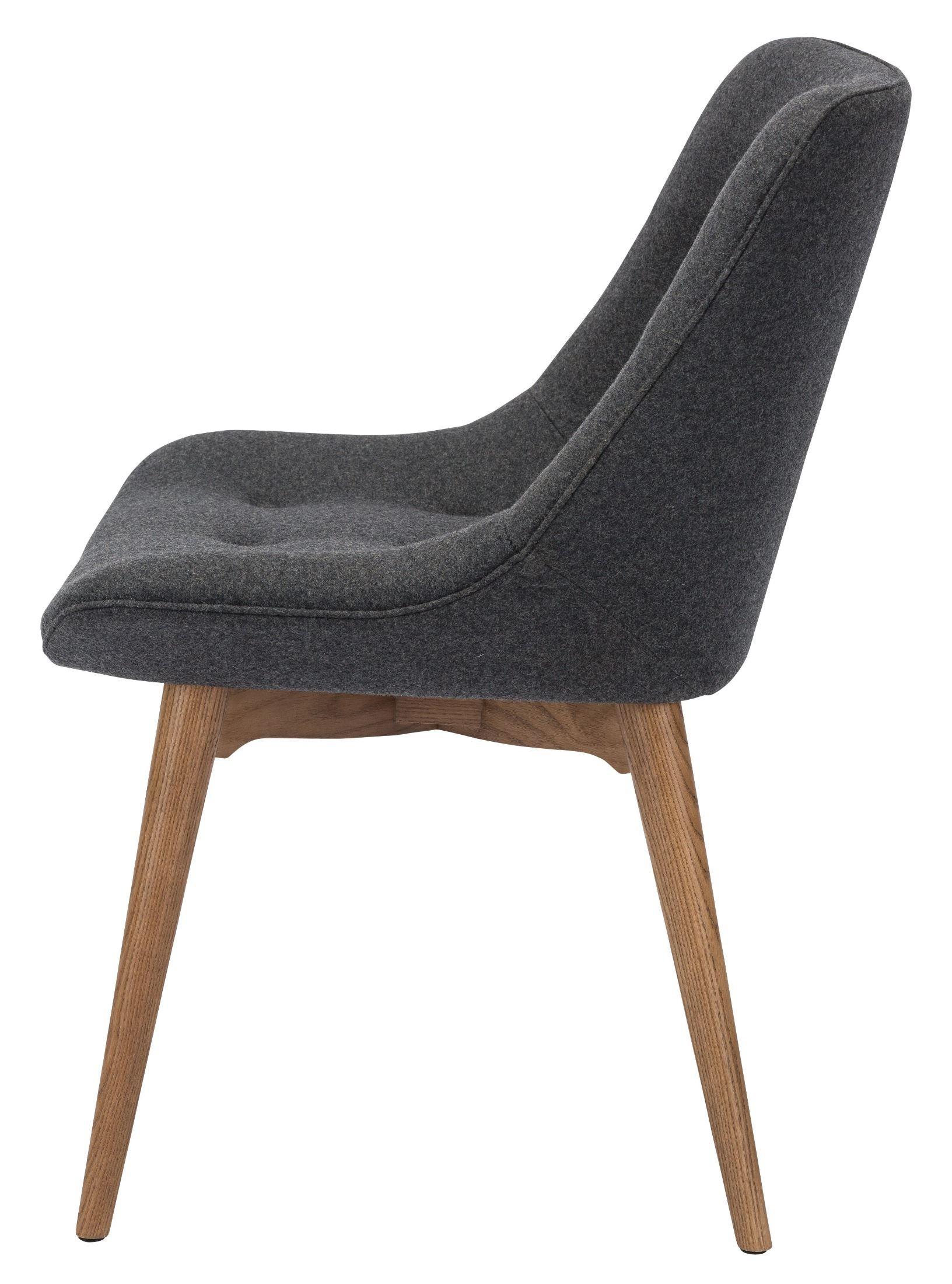 Brie Dark Grey Fabric Dining Chair HGEM642 Nuevo