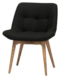 Brie Black Fabric Dining Chair, HGEM643, Nuevo