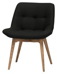 Brie Black Fabric Dining Chair, HGEM643, Nuevo