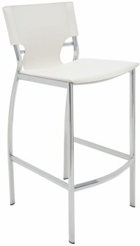 Lisbon White Leather Counter Stool from Nuevo   Coleman ...