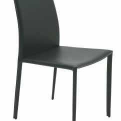 Black Leather Chair Dining Sitting For Baby Sienna Hgga283 Nuevo