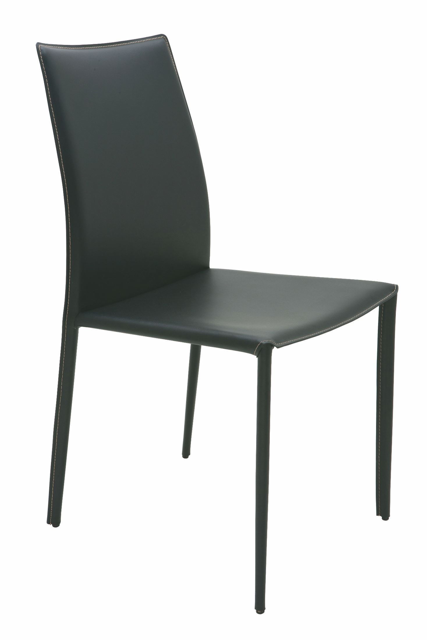 Black Leather Dining Chairs Sienna Black Leather Dining Chair Hgga283 Nuevo