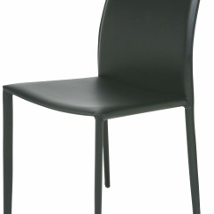 Black Leather Chair Dining Accent Grey Pattern Sienna From Nuevo Coleman