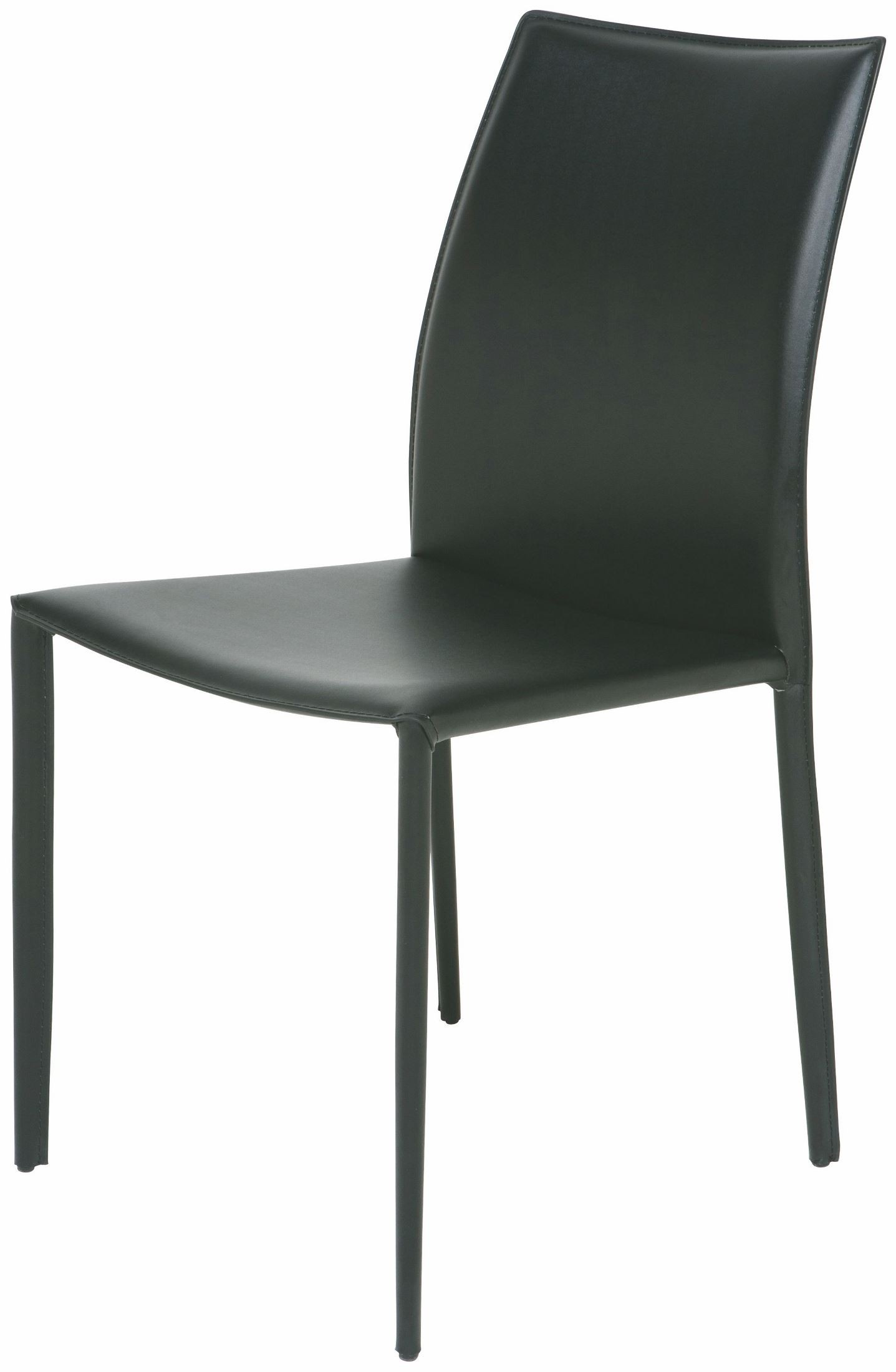 black leather chair dining classroom covers with pocket sienna from nuevo coleman