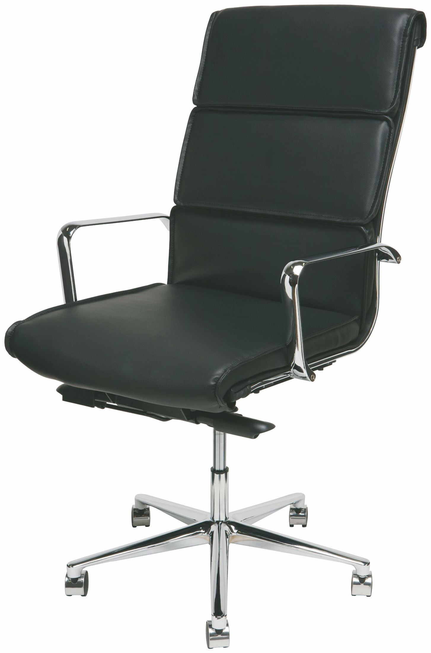 Lucia Black and Silver Metal High Back Office Chair from