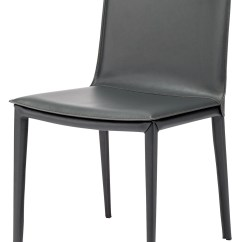 Gray Leather Dining Chairs Antique Rocking Value Palma Grey Chair Hgnd100 Nuevo