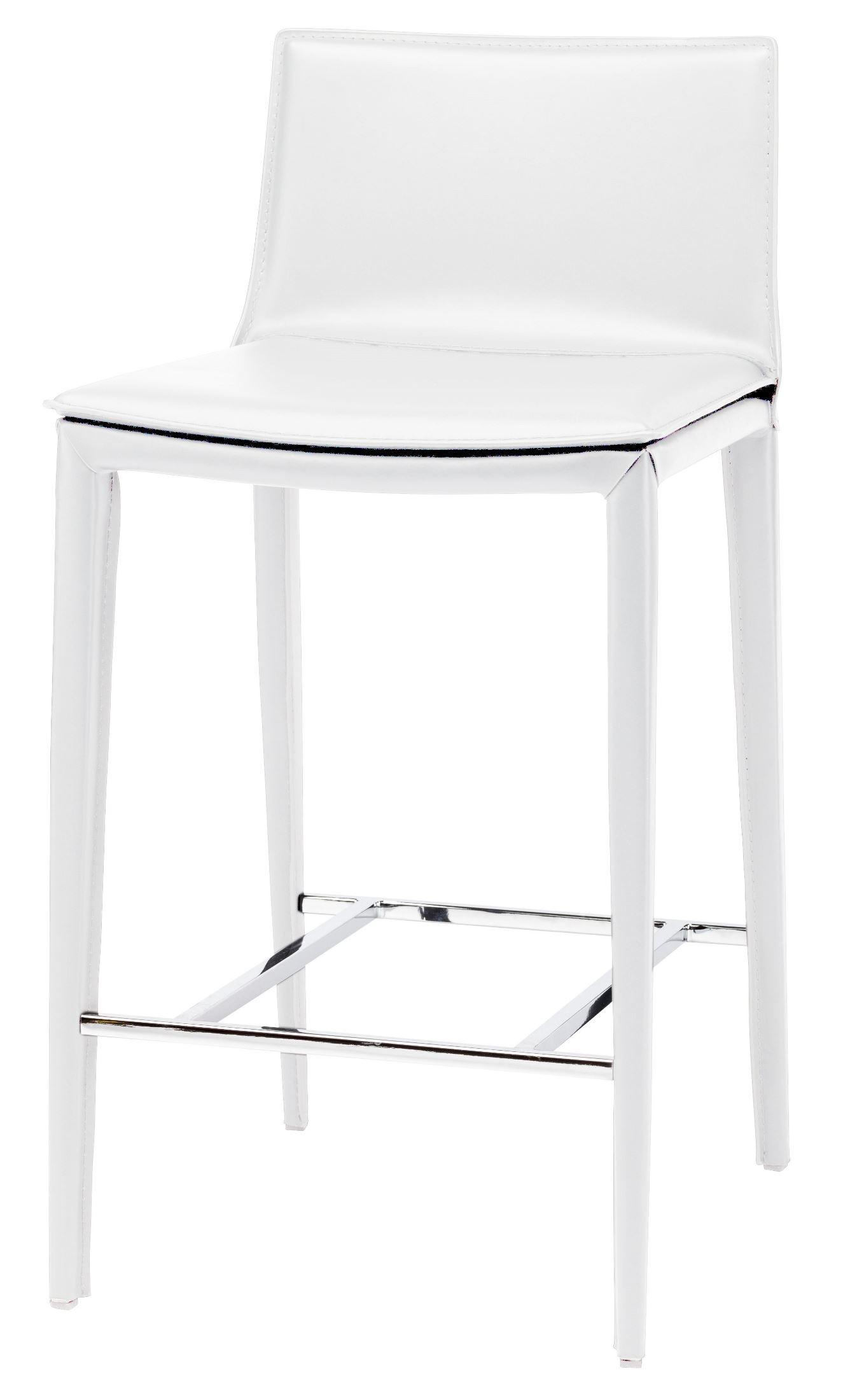 white leather bar chair steel wheelchair ramp palma counter stool hgnd111 nuevo
