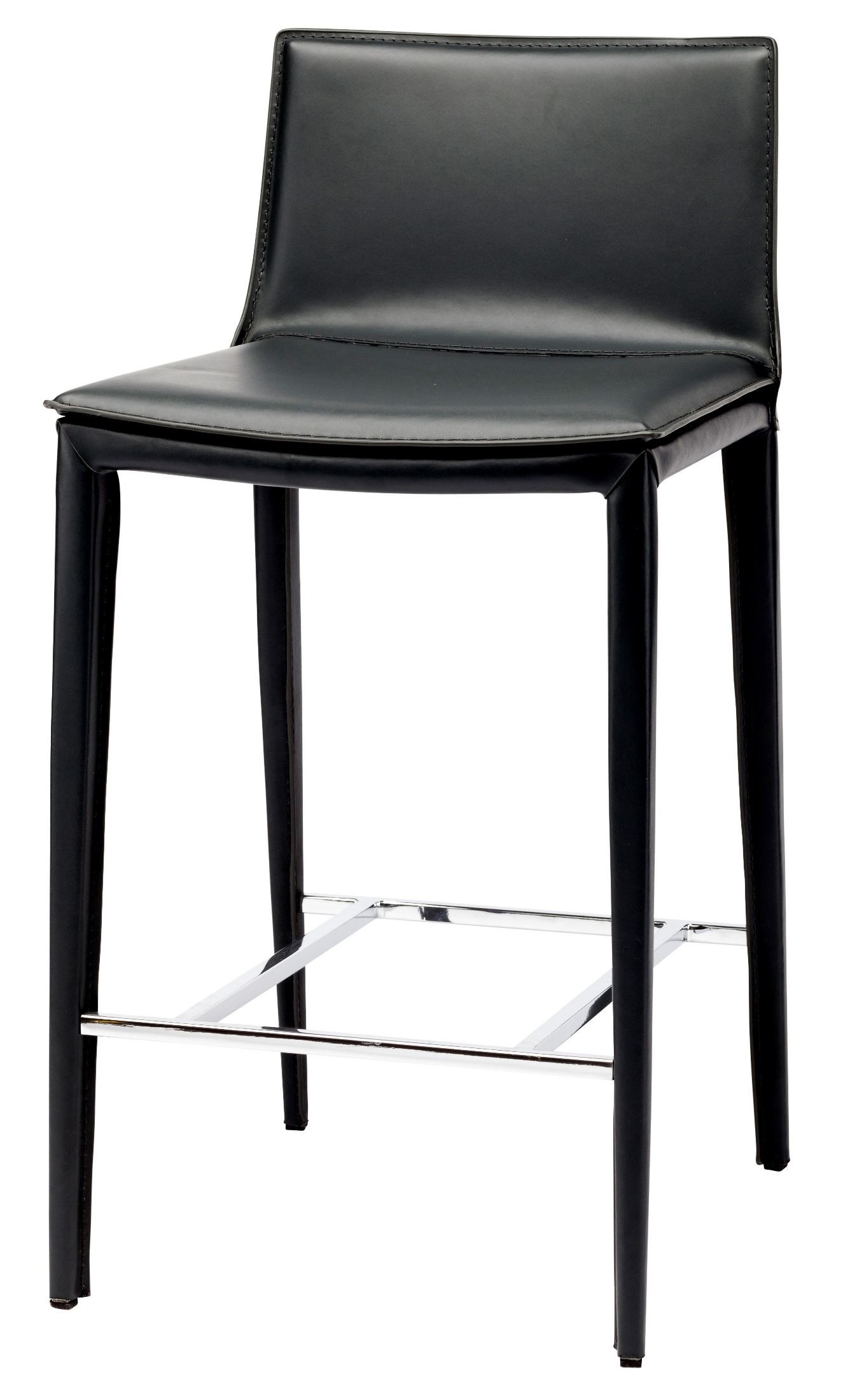 Palma Black Leather Counter Stool From Nuevo Coleman