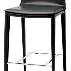 Chair Stool Black Diy Dining Seat Covers Palma Leather Counter Hgnd112 Nuevo