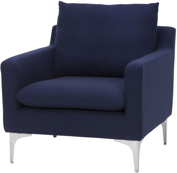 Anders Navy Blue Chair from Nuevo Coleman Furniture