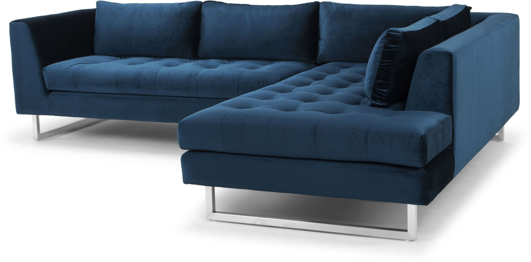 midnight blue sofa sofas sets modern janis fabric raf sectional from nuevo
