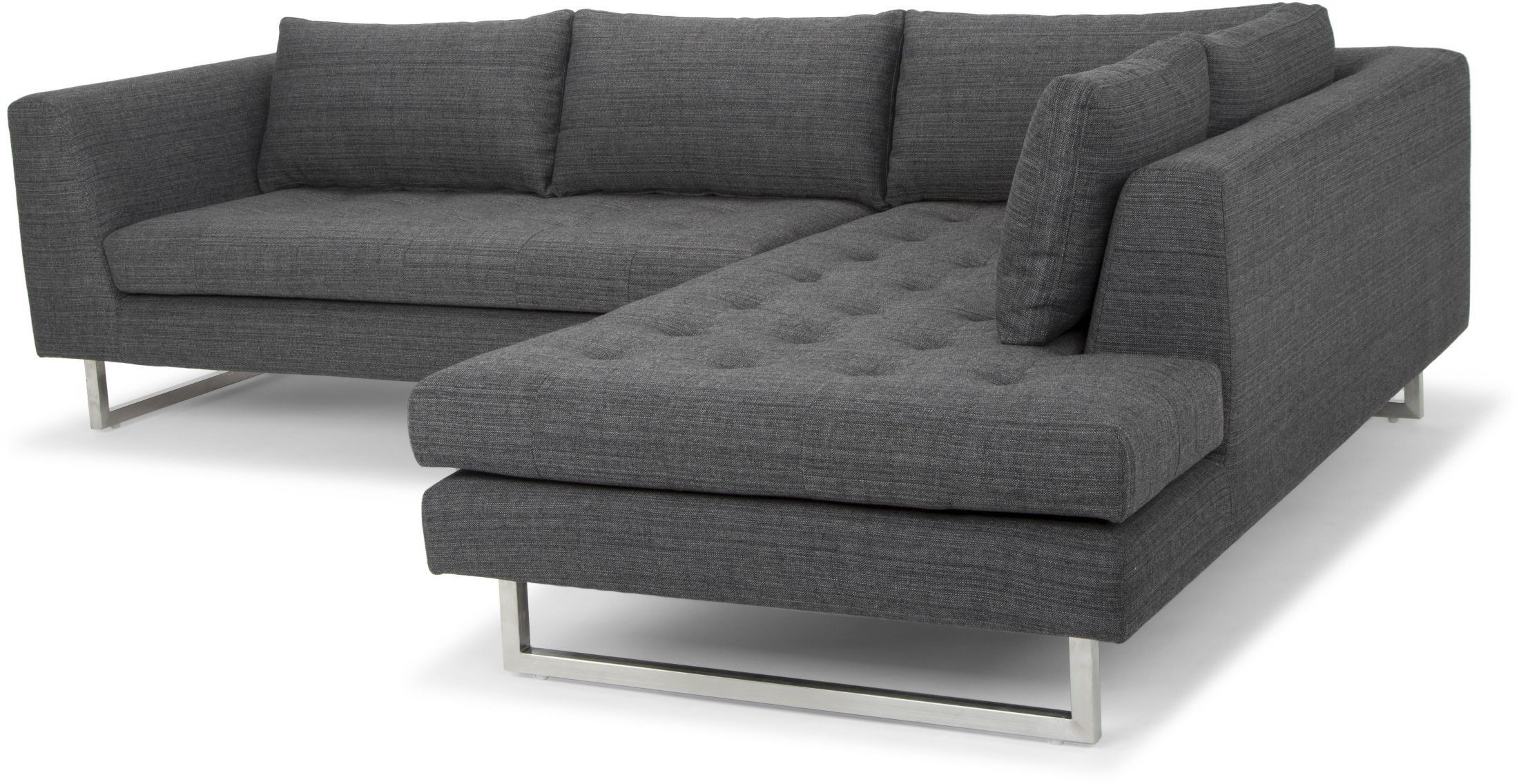 grey tweed sectional sofa calligaris sofas uk janis dark raf from nuevo