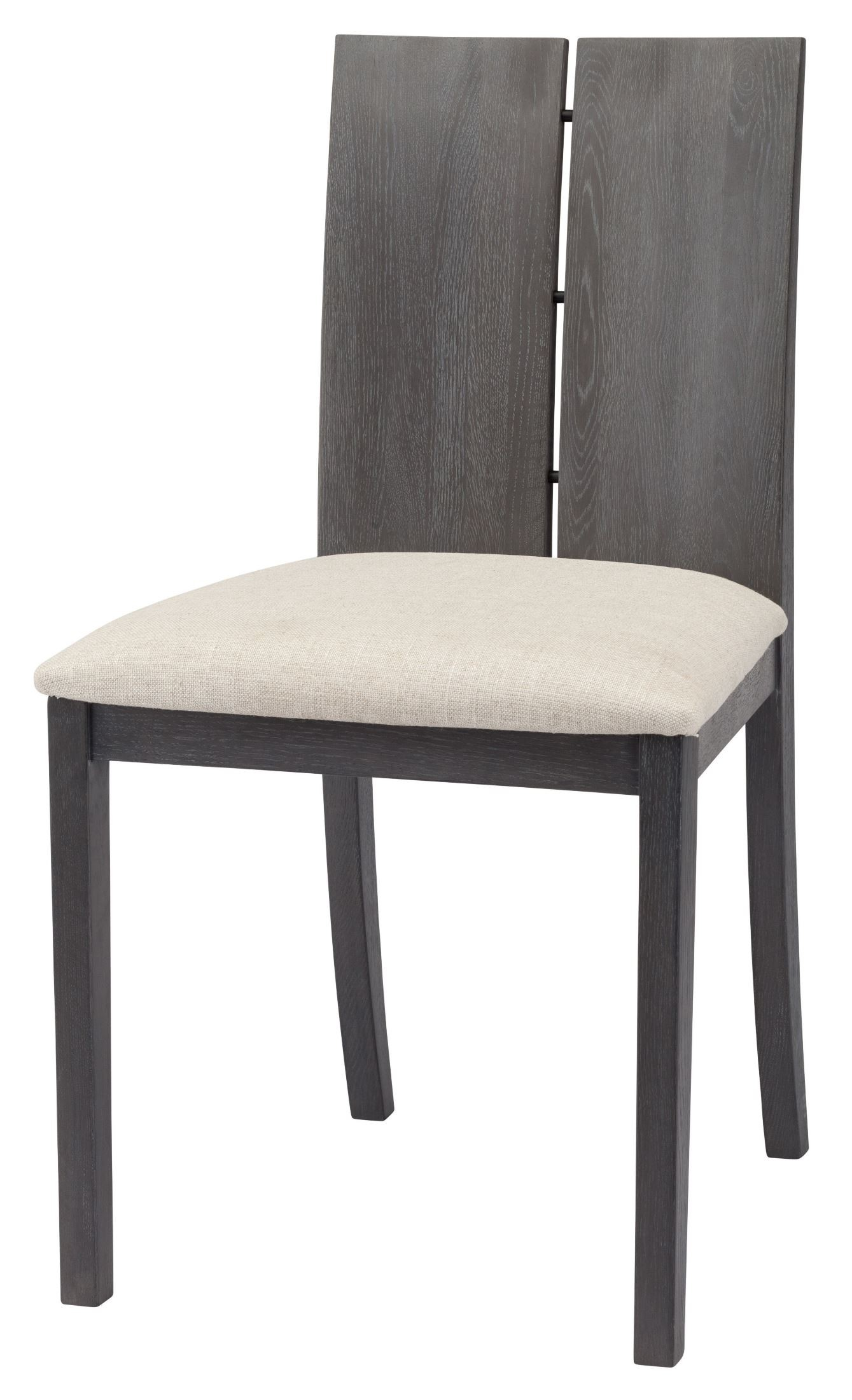 Grey Wood Dining Chairs Eva Beige Fabric And Grey Oxidized Wood Dining Chair From