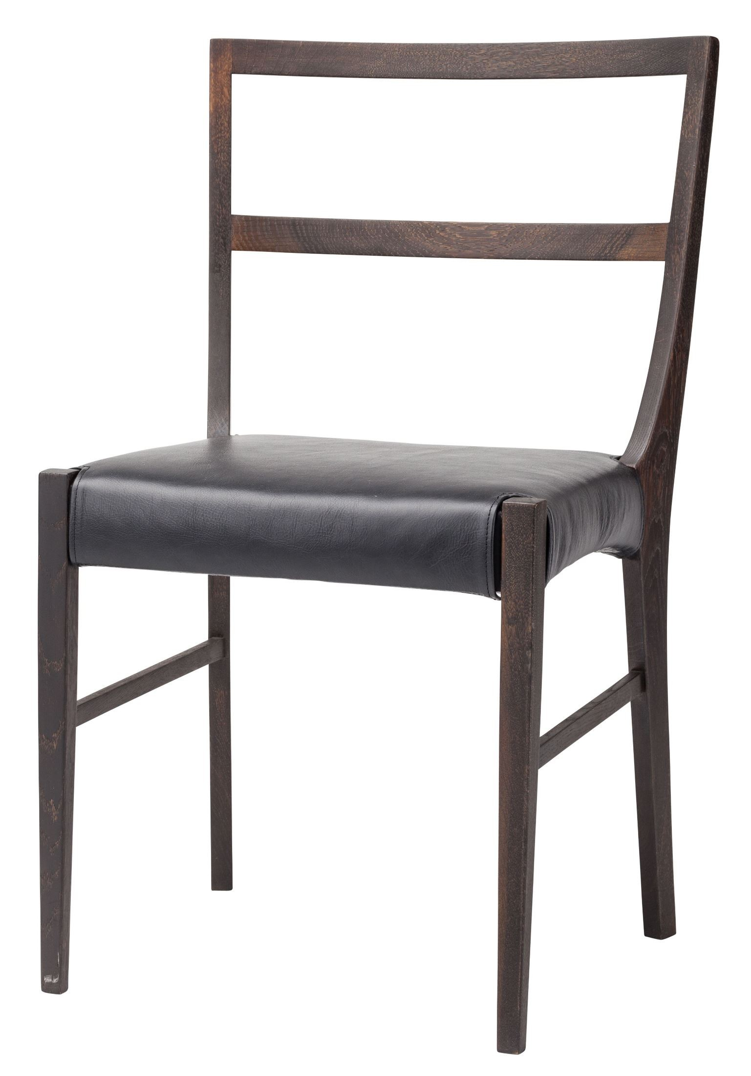 black leather chair dining first years high hanna from nuevo coleman