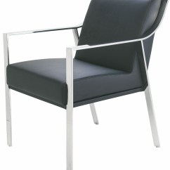 Silver Metal Dining Chairs Swivel Chair Replacement Parts Valentine Black Naugahyde Hgtb247 Nuevo