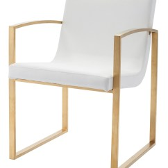 Gold Dining Chairs Lime Green Bistro Clara White And Naugahyde Chair Hgtb324 Nuevo
