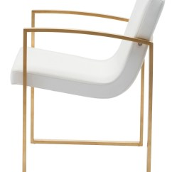 White And Gold Chair Kitchen Table Chairs Argos Clara Naugahyde Dining Hgtb324 Nuevo