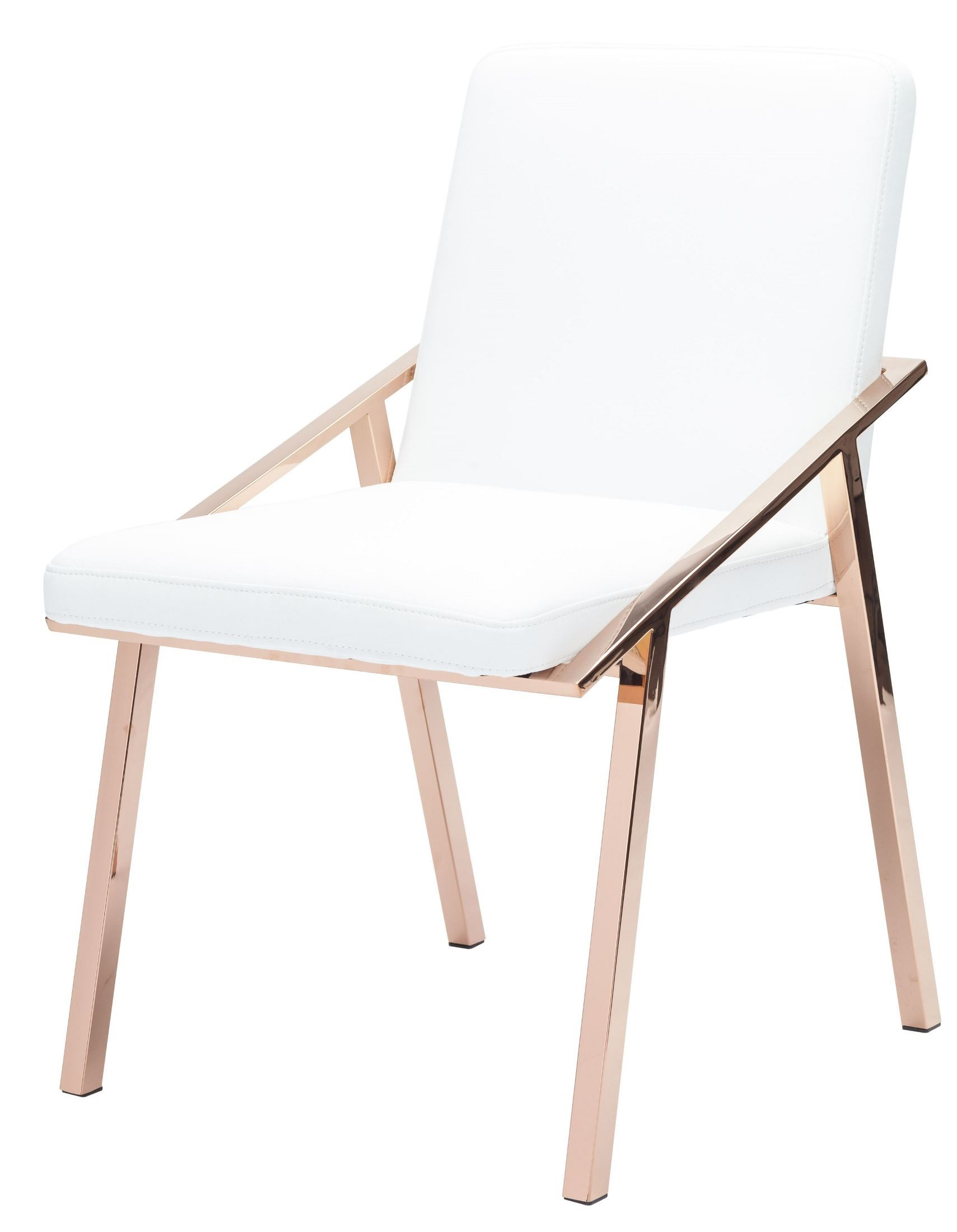 White And Gold Chair Nika White And Rose Gold Metal Dining Chair From Nuevo