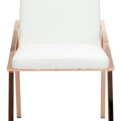 Steel Chair Gold Cool Room Chairs Nika White Naugahyde Dining Hgtb409 Nuevo
