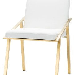 Gold Dining Chairs Ikea Fold Away Table And Nika White Metal Chair From Nuevo