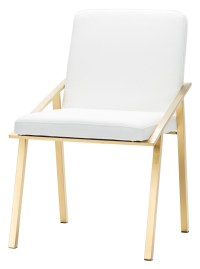 Nika White and Gold Metal Dining Chair from Nuevo ...