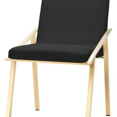 Steel Chair Gold Fisher Price High Ocean Wonders Nika Black And Stainless Dining From