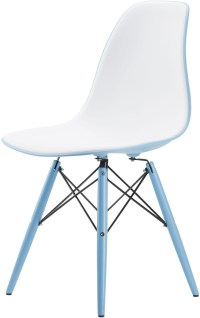 Felicia White And Light Blue Dining Chair from Nuevo