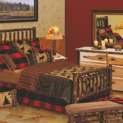 Hickory Chair Furniture Beds Black Bistro Chairs King Log Bed With Rails From Fireside