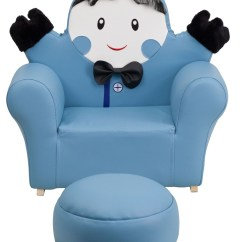 Little Boy Chairs Hanging Chair Quatropi Kids Blue Rocker And Footrest From