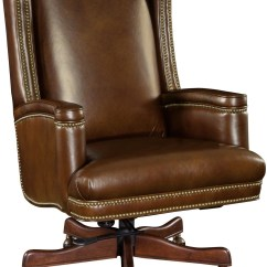 Swivel Chair Brown Office Covers India Wilmer Leather Executive Tilt From