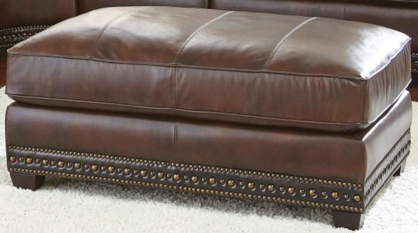 Antique Leather Ottomans