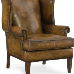 Hooker Leather Chair Bows For Weddings Blakeley Brown Club From Coleman
