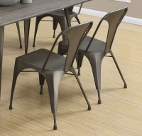 "Bronze Metal Cafe 33"" Dining Chair Set of 2 from Monarch ..."