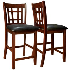 Pub Height Chairs Portable Baby High Chair Seat 1156 Cappuccino Black Set Of 2 From Monarch I